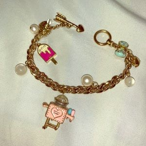 Betsey Johnson Ice Cream Charm Bracelet